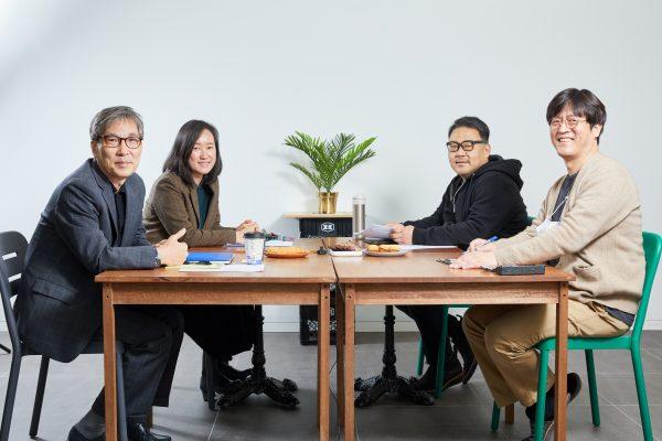 왼쪽부터 정건화 채효정 김선철 강경석 © 김준연